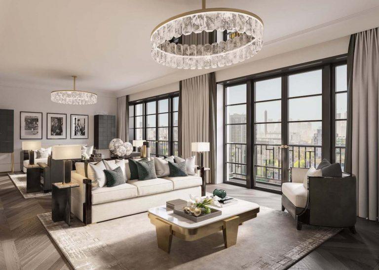 nowojorski styl zastosowany w salonie