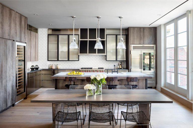 kuchnia zaprojektowana w stylu new york