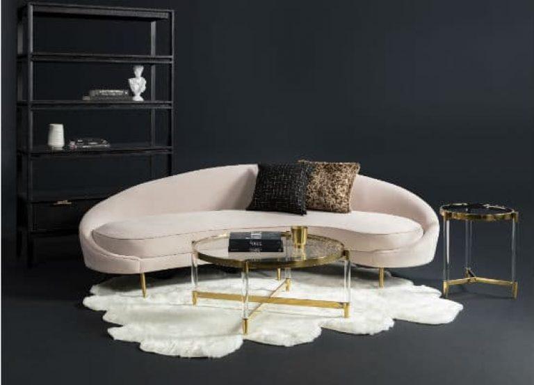 styl wnętrz glamour i sofa