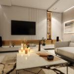 fotorealistyczna wizualizacja wnętrza salonu