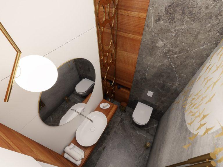 projekt wnęrza niewielkiej łazienki