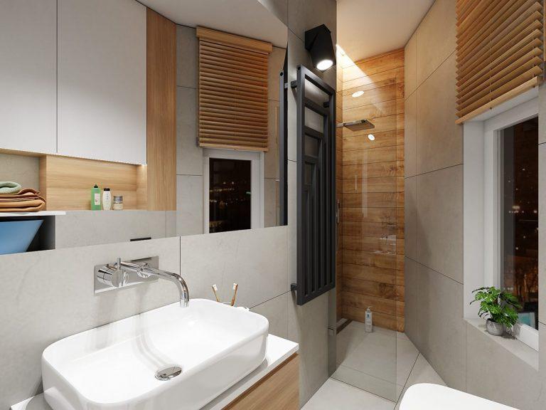 aranżacja łazienki ze skosami