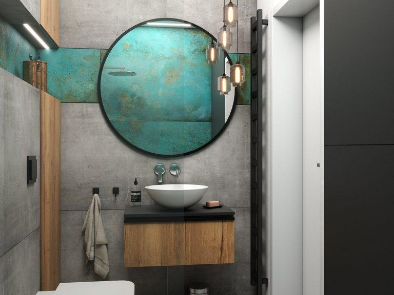 niewielkiej wielkości łazienka - projekt i aranżacja Abrys