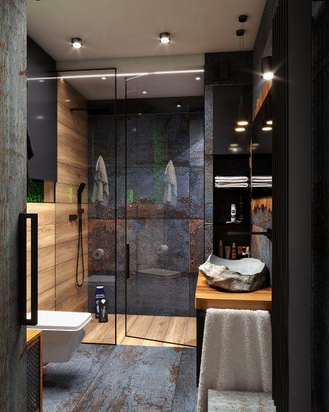 projekt i aranżacja nowoczesnej łazienki